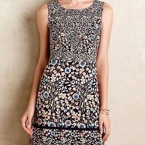 Anthropologie Maeve Brindille Sheath Dress